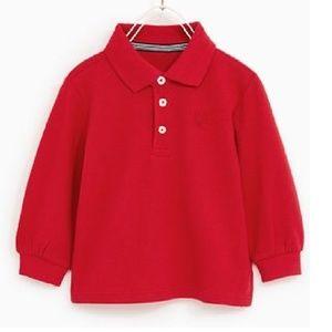 Zara Boys Collection Red Long Sleeve Polo Shirt 6